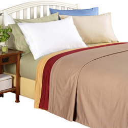 Bed Linens - Egyptian Cotton 1000 Thread Count Solid Sheet Set Cal-King Gold - 1000 Thread Count Solid Sheet Sets