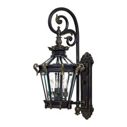 The Great Outdoors - The Great Outdoors GO 8932 4 Light Outdoor Wall Sconce Stratford Hall C - Four Light Outdoor Wall Sconce from the Stratford Hall CollectionFeatures: