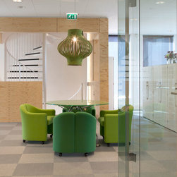 Modern Synthetic Floorcoverings - Bolon Metallics, are bright and fun, making it a great accent for any room. The possibilities are endless when it comes to Bolon Metallics in tile form- you can use a few complementary colors together to make a statement in your room. This floorcovering is also an excellent environmental choice as it contains Bolon's groundbreaking renewable, phthalate-free plasticiser which is based on a completely renewable plasticizer made from Soy Bean Oil.