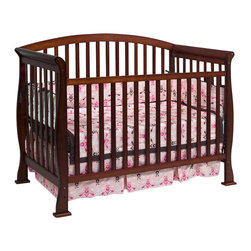 Da Vinci - Da Vinci Thompson 4-in-1 Convertible Wood Crib with Toddler Rail in Cherry - Da Vinci - Cribs - M3201C - It's naptime in the Thompson. Engineered with DaVinci style the Thompson Convertible Crib gives baby years of safe dreams. In a few simple conversions your crib becomes a toddler bed or a daybed. With wooden bed rails it becomes a full-sized bed! With the Thompson you get it all. Complete your DaVinci nursery with any of the Parker case pieces.