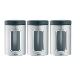 Brabantia Window Canister, Set of 3