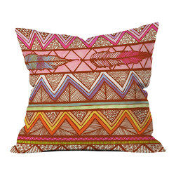 Lisa Argyropoulos Two Feathers Outdoor Throw Pillow - Do you hear that noise? it's your outdoor area begging for a facelift and what better way to turn up the chic than with our outdoor throw pillow collection? Made from water and mildew proof woven polyester, our indoor/outdoor throw pillow is the perfect way to add some vibrance and character to your boring outdoor furniture while giving the rain a run for its money.