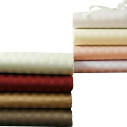 Luxor Linens - Romeo Stripe Pillow Cases, Standard, Wine - Rest your head in refined comfort on these captivating pillowcases. Made from 100-percent Egyptian cotton and stylishly striped, they're so soft and pretty, your pillows will thank you.