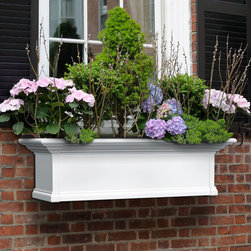 Yorkshire Window Box or Freestanding Planter - Add an inviting and charming look to your home with this stunning window box planter. The Yorkshire planter features clean, traditional lines and is offered with optional decorative brackets sold separately.