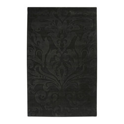 Surya - Surya Sculpture SCU-7510 Black 9'x13' Rug - Striking and sophisticated, the rugs of the Sculpture Collection utilize the art of surface carving to reveal elegant pattern and textural energy. Created by respected interior designer Candice Olson, each rug is an artistic representation of ultimate luxury and simplicity. Hand-woven from 100% Wool, they make the ideal addition to any transitional or contemporary interior.