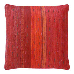 Dransfield & Ross - Dransfield & Ross Rain Drop Beaded Outdoor Pillow In Sangria PL-10094-22 SAN - Dransfield & Ross Rain Drop Beaded Outdoor Pillow In Sangria PL-10094-22 SAN