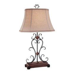 Minka Lavery - Minka Lavery 10361-0 Table Lamp In Wood - Manufacturer: Minka Lavery