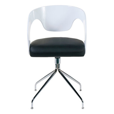 Euro Style - Euro Style Bernice Chair Set of 2 27224A/27220B - If you're looking for a swivel chair with originality and flare that doesn't sacrifice comfort...this is it. The laminated wood seat back and arms put the support exactly where you need it. And the opened up space between seat and back lends a welcomed lightness to the proceedings.