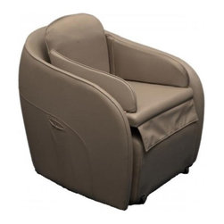 Omega Aires GREY Hidden Legrest Full Body Massage Chair w/ Foot Reflexology - Features:- 1 Automatic Air Massage Program - 3 Manual Air Massage Programs- 3 Levels of Air Pressure Intensity- 19 Airbags (14 Calves/Feet, 1 Seat, 2 Back, & 2 Neck)- Heaters for the Feet- Foot Roller Massage- 3 Speeds for Foot Roller- Motorized Leg Rest803e 803fAir Massage Programs: The Aires massage chair comes complete with an air compression massage system. It has a total of 19 airbags located throughout the chair. There are three different manual massage programs enabling you to target the back, waist or calves and feet or select the automatic program for the ultimate in relaxation. You can also activate each manual massage program separate or in combination. There are 14 airbags for the feet and calves, 2 airbags for the waist, 2 airbags for the back and 1 airbag for the buttocks. The intensity of the air compression massage can also be adjusted to three different levels.Foot Roller: A foot roller is located underneath the soles of the feet to provide more thorough penetration and revitalization of the feet. The foot roller provides relief for tired and aching feet. This is perfect for those who enjoy a thorough foot massage. The foot roller is located under the balls and arch of the foot to ease tight muscles in the feet.Foot Heaters: The Aires massage chair comes equipped with heaters to provide warmth and relaxation to the feet. The heating elements are located beneath the soles of the feet to provide a more thorough and complete massage experience. The heat can be activated with the touch of a button. Feel the soothing comfort of warmth for your feet during the massage.Motorized Leg Rest: The Aires chair comes with a motorized leg rest. The leg rest can be extended when a foot and calf massage is desired. The massage features can be used with or without extending the leg rest out from under the chair. Use the remote control to retract the leg rest when your foot and calf massage 