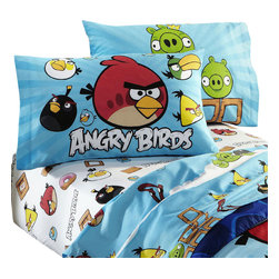 Jay Franco and Sons - Angry Birds Application Game Twin-Single Bedding Sheet Set - Features: