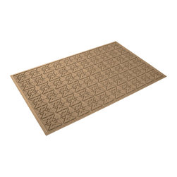 Bungalow Flooring - 36 in. L x 60 in. W Medium Brown Waterguard Star QuiLight Mat - Made to order. Quilted star design traps dirt, resists fading, rot and mildew. Indoor and outdoor use. 36 in. L x 60 in. W x 0.5 in. H
