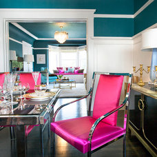 Eclectic Dining Room by Michelle Workman Interiors