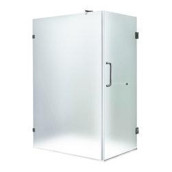 """VIGO Industries - VIGO 36 x 48 Frameless 3/8"""" Frosted/Chrome Shower Enclosure - Update your bathroom with this unique VIGO, stylish and totally frameless rectangular shape shower enclosure"""