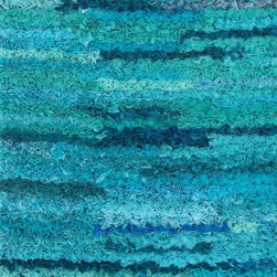 "Loloi Rugs - Loloi Rugs Eliza Shag Collection - Aqua, 2'-3"" x 3'-9"" - Get ready for a small rug that makes a big impact. Available in 2'3"" x 3'9"" and 3' x 5' scatter sizes, Eliza Shag is perfect for refreshing your kitchen, bathroom, or bedside with a pop of color. In fact, Eliza Shag doesn't just come in color, it's practically made of it. That's because most of the repurposed polyester fabric is hand dipped into rich dye lots and then hand woven together in India. The result is gorgeous colors - serene ocean blue, warm paprika, and elegant ivory - and a fun ruffled texture that's going to uplift the entire mood of your room."