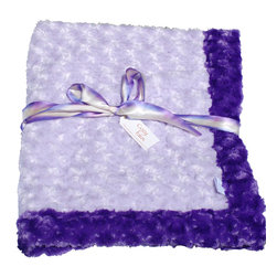 Purple/Lavender Baby Blanket - This throw blanket is supremely soft and cozy while its two-tone color scheme keeps it looking elegant and sophisticated in any nursery. Buy this blanket for your baby or give as a shower gift to expectant parents. They'll be sure to love and cherish it for years.