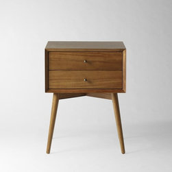 Midcentury Nightstand, Acorn - This wooden midcentury nightstand would add some warmth to the bedroom.