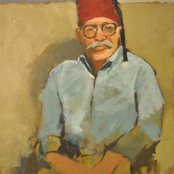 Man In Red Fez (Original) by Brian Mccarty - I painted this in a studio class in New York. I love to paint portraits and like the final result in this one. Every model has their own personality, and I always try my best to capture it.