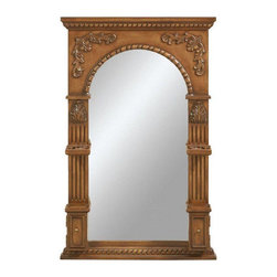 Home Decorators Collection - Home Decorators Collection Mirrors Chelsea 41 in. x 27 in. Framed Wall Mirror - Shop for Decor at The Home Depot. The Heirloom Arched Mirror is as convenient as it is stylish with its toothbrush holder soap dish and elegant antique-inspired design. With a lustrous finish and fine craftsmanship this wall decor will make a stunning addition to your bathroom or bedroom. Be sure to purchase your bathroom mirror today. Color: Antique Oak.