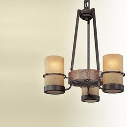 Troy Lighting - Troy-CSL Lighting F1845BB Bamboo 3 Light Chandeliers in Bamboo Bronze - Bamboo 3Lt Chandelier