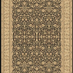 "Dynamic Rugs - Dynamic Rugs Rug, Black, 9' 2"" x12' 10"" - The Legacy Collection by Dynamic Rugs features persian styled rugs with 800,000 points with traditional colors."