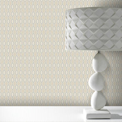 Graham & Brown - Hicks Wallpaper - Hicks, a simple linked geometric with matt and metallic accents is the ultimate in stylish sophistication