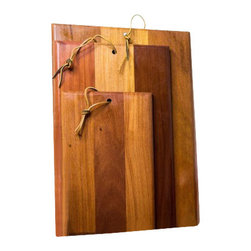 Traditional Style Rectangular Cutting Boards - Very crisp craftsmanship turning simple rectangular boards into art and science. They integrate every quality: function and look.