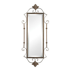 Sterling - Sterling 132-018 Rectangle Mirror  With Scroll Surround - Sterling 132-018 Rectangle Mirror  With Scroll Surround