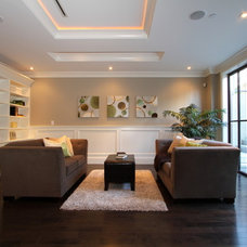 Eclectic Basement by KASHMIR DHALIWAL FINE REDESIGN.
