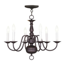 Livex Lighting - Livex Lighting-5006-07-Williamsburg - Six Light Chandelier - *Canopy Included: Yes