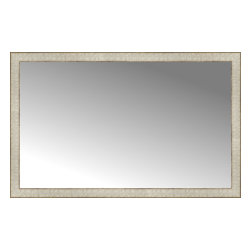 """Posters 2 Prints, LLC - 46"""" x 29"""" Libretto Antique Silver Custom Framed Mirror - 46"""" x 29"""" Custom Framed Mirror made by Posters 2 Prints. Standard glass with unrivaled selection of crafted mirror frames.  Protected with category II safety backing to keep glass fragments together should the mirror be accidentally broken.  Safe arrival guaranteed.  Made in the United States of America"""