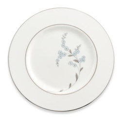 Lenox - Lenox Rutledge Legacy 9-Inch Accent Plate - A delicate floral motif with white and blue accents graces each piece of this fine bone china, which is trimmed in lustrous platinum. Fine bone china is oven safe and dishwasher safe.