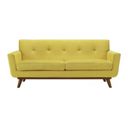 Modway Imports - Modway EEI-1179-SUN Engage Upholstered Loveseat In Sunny - Modway EEI-1179-SUN Engage Upholstered Loveseat In Sunny