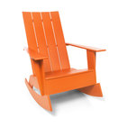 Loll Designs - 4-Slat Standard Adirondack Rocker - Now you can gently rock the day away in this updated Adirondack chair. Whether you're on a seaside porch or a backyard deck, nothing says carefree living like this chic rocker.