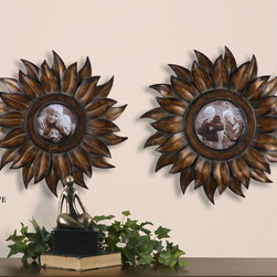 "13612 Sunflower, Photo Frames, Set/2 by Uttermost - Get 10% discount on your first order. Coupon code: ""houzz"". Order today."