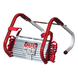 Kidde - Kidde KL-2S Emergency Two-Story Escape Ladder with Anti-Slip Rungs - 13 Feet - Someone in the U.S. dies in a home fire every three hours, according to the The National Fire Protection Association. Kidde Escape Ladders offer a quick and easy escape from two story homes. These life-saving ladders store compactly, deploy quickly, and keep you prepared for the possibility of fire and other emergencies. Kidde Escape Ladders attach quickly to most windows, and they are tangle free, stretching out to form a flame resistant, durable, and sturdy ladder that can support up to 1,000 pounds.