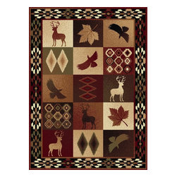 """Tayse - Southwestern/Lodge Nature 7'10""""x10'3"""" Rectangle Multi Color Area Rug - The Nature area rug Collection offers an affordable assortment of Southwestern/Lodge stylings. Nature features a blend of natural Multi Color color. Machine Made of Polypropylene the Nature Collection is an intriguing compliment to any decor."""