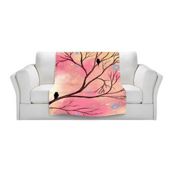 DiaNoche Designs - Throw Blanket Fleece - Coral Calm - Original Artwork printed to an ultra soft fleece Blanket for a unique look and feel of your living room couch or bedroom space.  DiaNoche Designs uses images from artists all over the world to create Illuminated art, Canvas Art, Sheets, Pillows, Duvets, Blankets and many other items that you can print to.  Every purchase supports an artist!