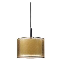 """Sonneman Lighting - Sonneman Lighting 6008.51F Puri 10"""" Drum Pendant Light In Black Brass - Sonneman Lighting 6008.51F Puri 10"""" Drum Pendant Light In Black Brass"""