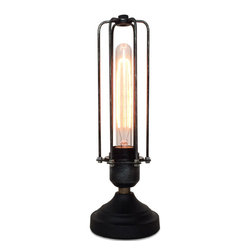 WestMenlights - Shabby Chic Edison Table Lamp - Turra is shabby chic table lamp small funky lamps retro art deco table light metal industrial stylish office desktop lighting 2014 newest lamp