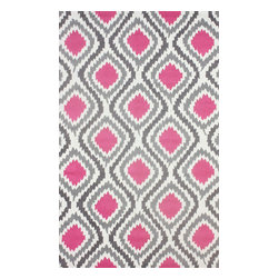 nuLOOM - 5'x8' Pink Hand Hooked Area Rug Trellis UZB45 - Made from the finest materials in the world and with the uttermost care, our rugs are a great addition to your home.