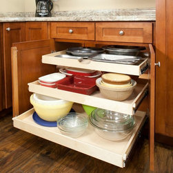 Full Extension Pull Out Shelves -