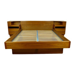 Mid Century Queen Size Platform Bed Danish By Scan Coll - RetroPassion21