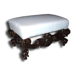 EuroLux Home - New Ottoman Rococo Intricate Carved Wood - Product Details