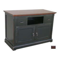 Tradewinds - Hand Painted Tuscany Sideboard/TV Console, Tobacco - Showcase your exclusive home theater on this artistic sideboard/TV console. This wonderful creation features drawers with removable CD & DVD dividers and electrical cut-outs for ample ventilation and cable management. This hand painted furniture piece comes with multiple finish options to precisely match up with your decor.
