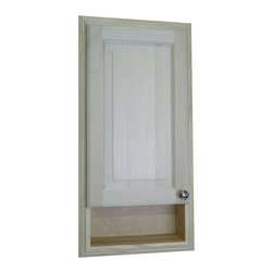 None - 30-inch Recessed Baldwin Medicine Storage Cabinet - Customize your bathroom with a touch of paint or stain on this unfinished medicine cabinet. This unit requires just an appropriately sized opening and construction adhesive for installation. Use the open shelf for toothbrushes and items used daily.