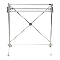 HK Designs Dorchester Towel Rack - A piece from the Dorchester line, the minimal lines in this lovely vintage towel rack would really add class to a traditional bathroom. Comes in a variety of finishes.