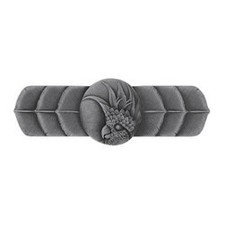 """Inviting Home - Right Horizontal Cockatoo Pull (antique pewter) - Hand-cast Right Horizontal Cockatoo Pull in antique pewter finish; 4-1/4""""W x 1-1/2""""H; Product Specification: Made in the USA. Fine-art foundry hand-pours and hand finished hardware knobs and pulls using Old World methods. Lifetime guaranteed against flaws in craftsmanship. Exceptional clarity of details and depth of relief. All knobs and pulls are hand cast from solid fine pewter or solid bronze. The term antique refers to special methods of treating metal so there is contrast between relief and recessed areas. Knobs and Pulls are lacquered to protect the finish. Alternate finishes are available. Detailed Description: If you are intrigued by fashionable and playful accessories than you will love the Cockatoo pulls - they come in vertical and horizontal options which would bring amazing variety without having to search at all. You can use the vertical pulls on the cabinet doors and the horizontal pulls on the drawers. If you have any smaller drawers you could also work in the Cockatoo Knobs making it a complete collection while displaying variety."""
