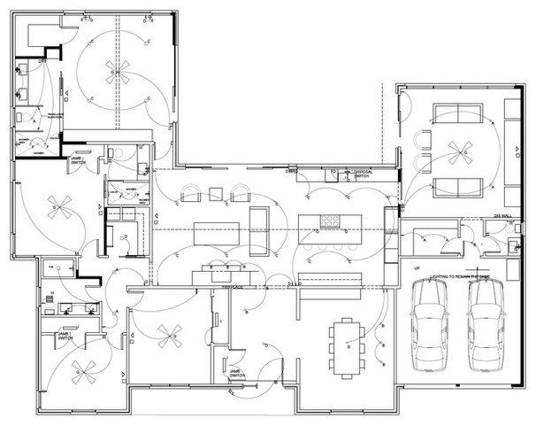 Modern floor plan dallas tx lenore locascio for 3200 sq ft ranch house plans