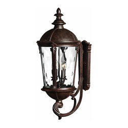 Hinkley - Hinkley Windsor Four Light River Rock Wall Lantern - 1895RK - This Four Light Wall Lantern is part of the Windsor Collection and has a River Rock Finish. It is Outdoor Capable, and Wet Rated.