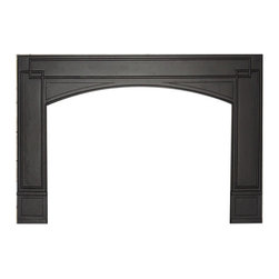 "WOLF STEEL LTD (CORE) - GICSK Cast-Iron Surround - GICSK Cast-Iron surround.  Arched, painted black (requires GI906K), for openings smaller than 29""h x 46""w"